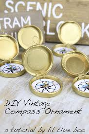 diy ornament ideas vintage compass