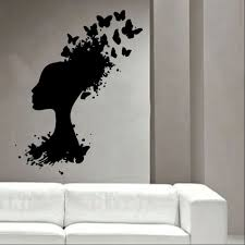 head turning into butterflys vinyl wall art shop zoom