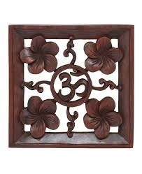 carved wooden wall pictures wood om wall hanging handcarved in bali