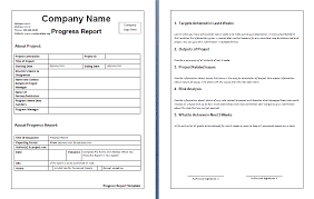 simple business report template simple business report template simple student progress report