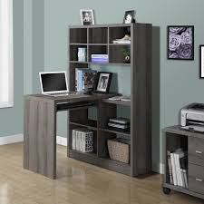 mia bookcase desk taupe youtube