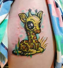 Giraffe Tattoos Meaning 21 Giraffe Designs Ideas Design Trends Premium Psd