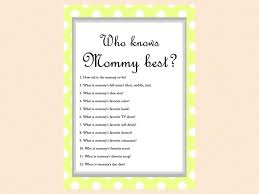 who knows baby shower yellow polka dots baby shower who knows best who
