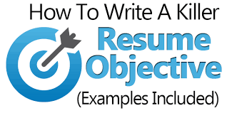 resume objectives exles how to write a resume objective exles included