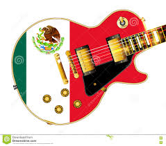 mexican flag guitar stock vector image 81714326