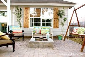Backyard Patio Stones Backyard Bliss Installing Patio Pavers And A Fire Pit Diy Patio