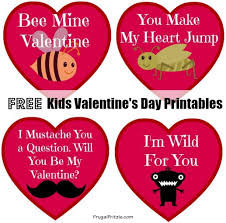 kids valentines cards kids s day cards printables