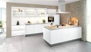 weisse hochglanz küche moderne einbauküche classica 1230 grifflos weiss hochglanz