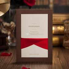 Wedding Invitation Software Cholocate Gold With Red Brown Santin Ribbon Wedding Party Multi