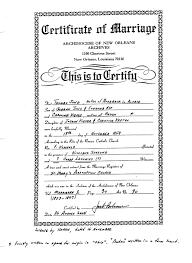 catholic marriage certificate nicholas and mahala
