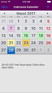Kalender 2018 Hari Raya Nyepi Kalender Indonesia 2018 Adfree Di App Store