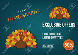 usa thanksgiving day sale banner exclusive offers
