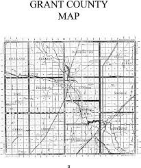 Indiana Counties Map Grant County Townships