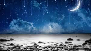beach starry night sly stars stones moon sea beach wallpaper