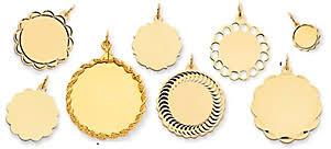 Engraved Pendant 14k Gold Engraved Pendants