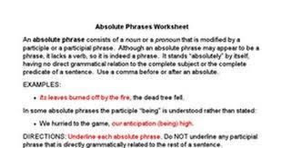 absolutes worksheet google docs