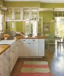Kitchen Colours With White Cabinets 10 Beautiful Kitchens With Green Walls Counter Top Green Walls