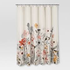 Shower Curtains Shower Curtain Floral Wave Threshold Target