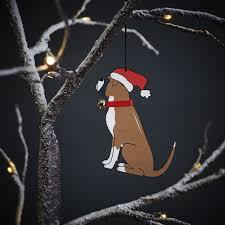 boxer dog xmas boxer dog christmas tree decoration 7 95 mischievous mutts