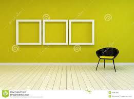 colorful modern art gallery interior stock illustration image