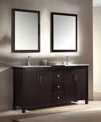ariel hanson double 60 inch modern bathroom vanity set espresso