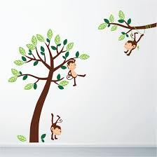 monkey jungle wall sticker stickers wall