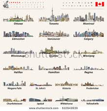 canadian map capitals canada largest cities all states capitals stock vector 610949939