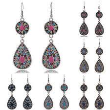 vintage earrings boho style vintage drop earring resin beaded vintage earrings