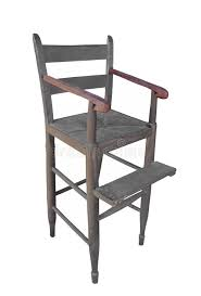 Antique Wood High Chair Antique Wood Child Highchair Isolated Royalty Free Stock Image
