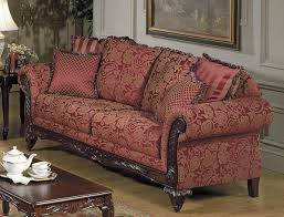 Wooden Carving Furniture Sofa Tapestry Traditional Living Room W Carved Wood Frame