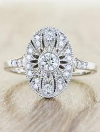 vintage oval engagement rings aurelia oval shaped ornate diamond engagement ring ken