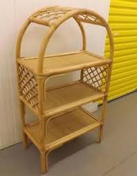 conservatory wicker arched bookcase display shelves bamboo rattan