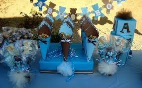 teddy baby shower ideas blue and brown teddy bears baby shower party ideas photo 2 of 26