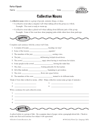 collective nouns worksheet worksheets