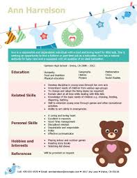 Resume Objective For Part Time Job by Babysitter Resume Objective Haadyaooverbayresort Com
