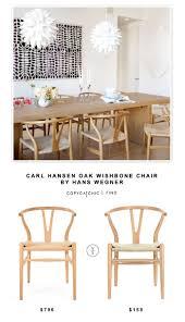 carl hansen oak wishbone chair by hans wegner copycatchic