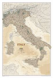 Maps Italy Italy Executive Wall Map Wall Maps National Geographic And Italy