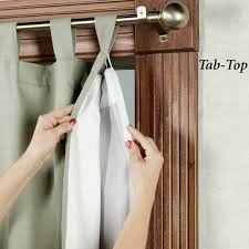 home decorators collection white blackout back tab curtain liner
