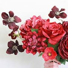 Artificial Flower Bouquets Silk Wedding Flowers Bouquets Shop Flowers By Color At Afloral Com
