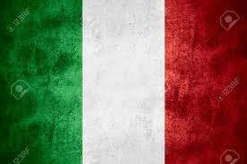 Italy National Flag Flag Of Italy Or Italian Banner On Rough Pattern Texture
