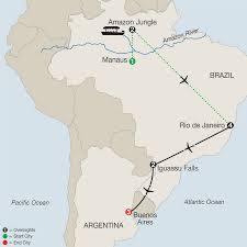 Cuba South America Map by Central U0026 South America Tours Globus Escorted Travel