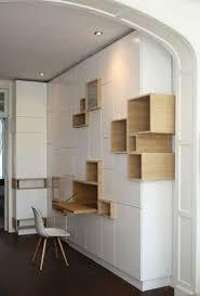 bureau placard bureau dans placard best of rangements asymétriques pour bureau