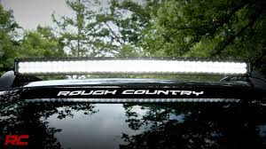40 inch led light bar 40 inch curved dual row cree led light bar by rough country youtube