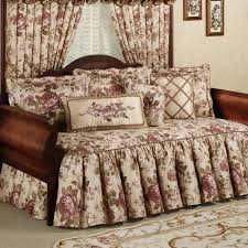 bedroom furniture bedroom antique brown stained wooden daybed