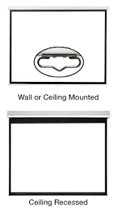 How To Hang A Projector Screen From A Drop Ceiling by Projector Screen Buying Guide Projection Screen Information Pss