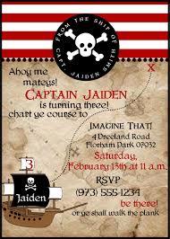 Birthday Cards Invitations Pirate Birthday Party Invitations Cloveranddot Com