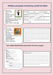 Paragraph Writing Worksheets Writing A Paragraph Worksheet By Nessrine78