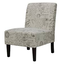 Armless Accent Chair Cortesi Home Chicco Armless Accent Chair Script