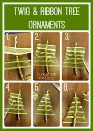 cook and craft me twig ribbon tree ornaments