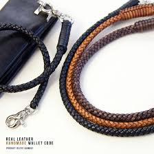 mens leather necklace chains images Marc arrows rakuten global market wallet cord leather wallet jpg